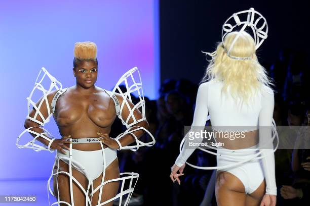 Ericka Hart walks the runway for Chromat Spring/Summer 2020 during New York Fashion Week: The Shows at Gallery I at Spring Studios on September 07,...