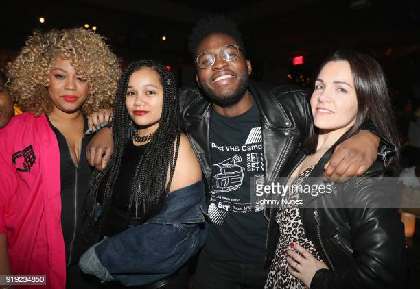 Ericka Régine Desire Thompson Xavier Andrews and Shante Cosme attends as Remy Martin Presents The Nike x Revolve Party at Tao on February 16 2018 in...