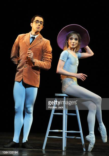 Erico Montes and Sarah Lamb in Jerome Robbins's The Concert at The Royal Opera House on December 17 2018 in London England