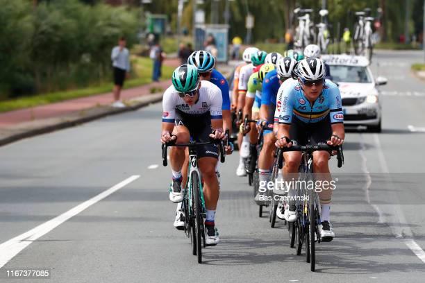 Erik Baska of Slovakia / Yves Lampaert of Belgium / during the 25th UEC Road European Championships 2019 - Elite Men's Road Race a 172,6km race from...