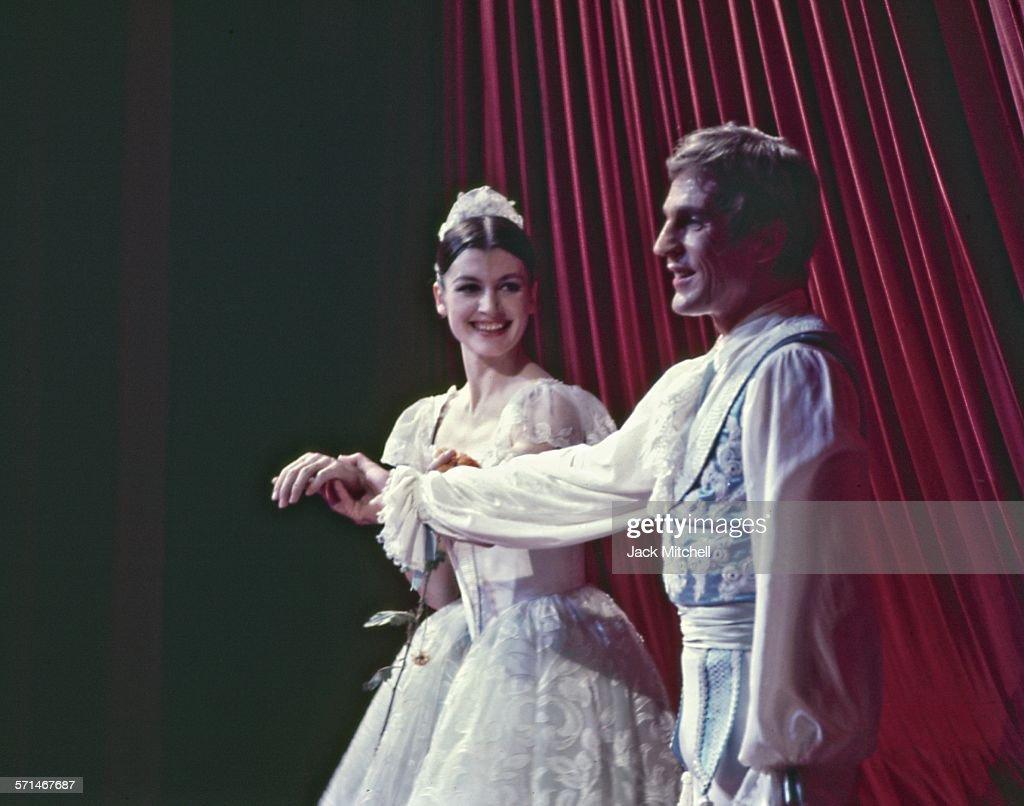 Dancers Carla Fracci and Erik Bruhn in American Ballet