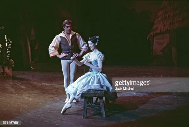 Erik Bruhn and Carla Fracci pderforming American Ballet Theatre's 'Coppelia' in December 1968