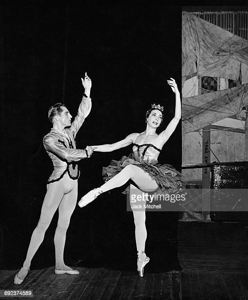 Erik Bruhn and Nora Kaye in the American Ballet Theatre's 'Paquita' pas de deux 1958