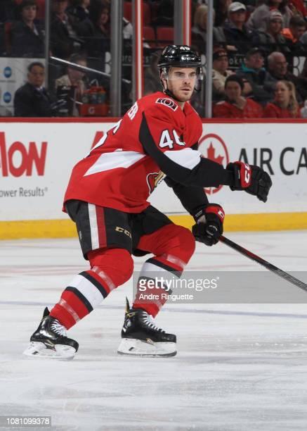 Erik Burgdoerfer of the Ottawa Senators skates against the Boston Bruins at Canadian Tire Centre on December 9 2018 in Ottawa Ontario Canada