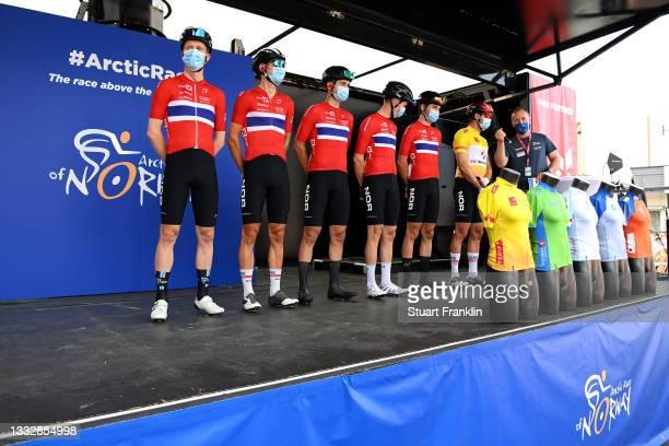 Erik Bystrom Sven of Norway, Andre Drege of Norway, Aspelund Holstad Ludvik of Norway, Adne Holter of Norway, Alexander Kristoff of Norway Yellow...