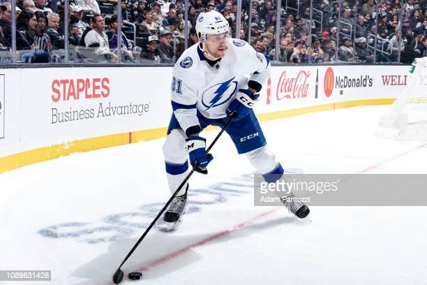 Erik Cernak of the Tampa Bay Lightningat STAPLES Center on January 3 2019 in Los Angeles California