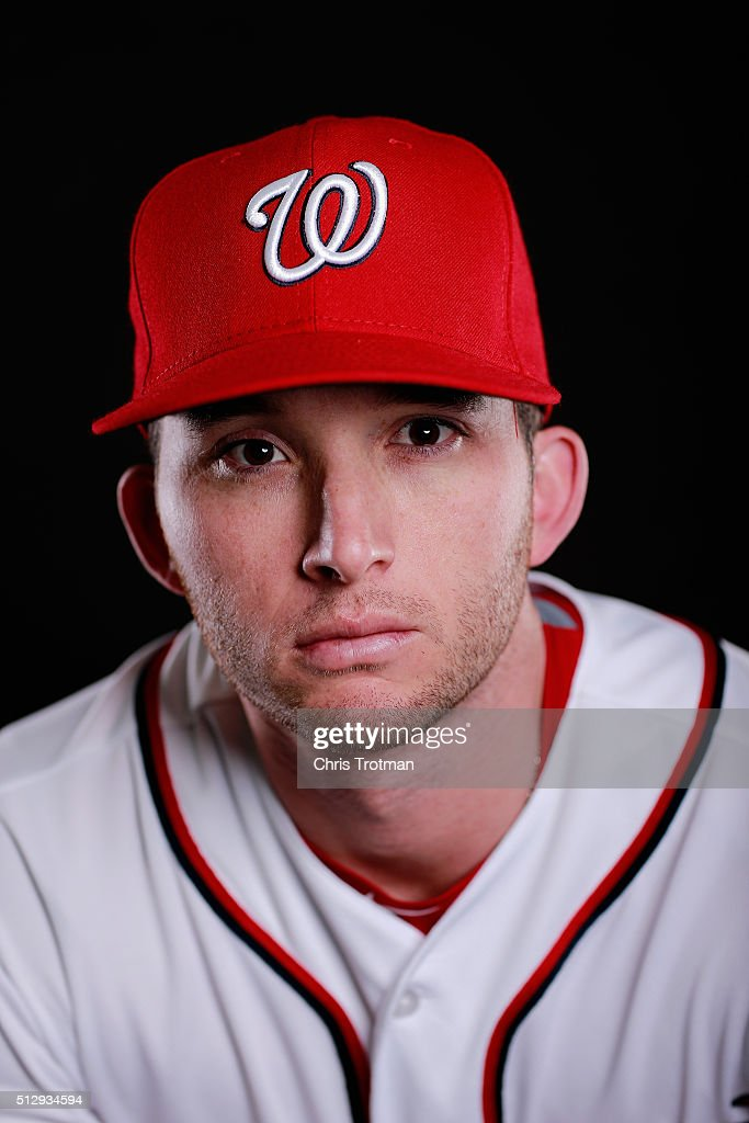 Erik Davis #19 of the Washington Nationals poses for a portrait at Spring Training photo day at Space Coast Stadium on February 28, 2016 in Viera, Florida.
