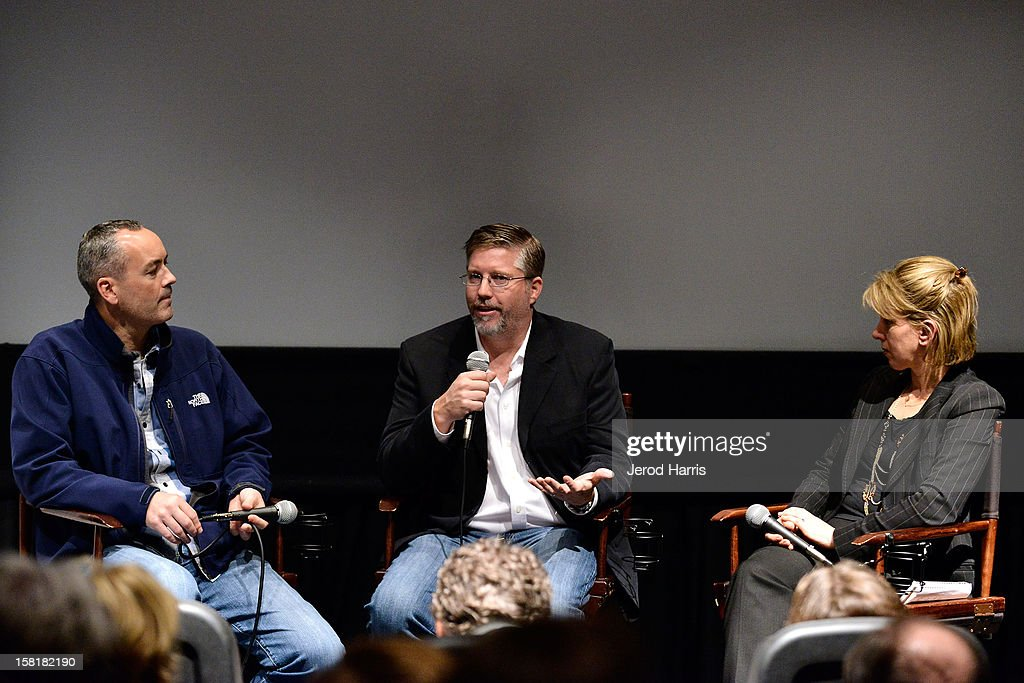 Erik de Boer, Bill Westenhofer and TheWrap's Sharon Waxman participate in a Q&A following TheWrap's Awards Season Screening Series of 'Life Of Pi' on December 10, 2012 in Los Angeles, California.