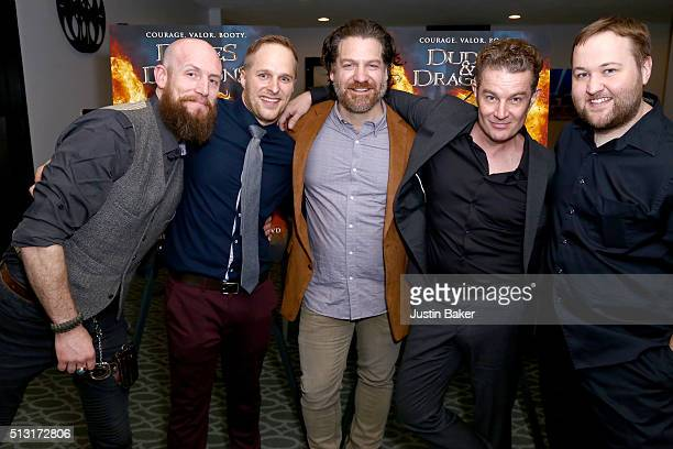 Erik Denton Maclain Nelson Adam Johnson James Marsters and Stephen Shimek attend the premiere of Samuel Goldwyn Films' 'Dudes And Dragons' at Harmony...