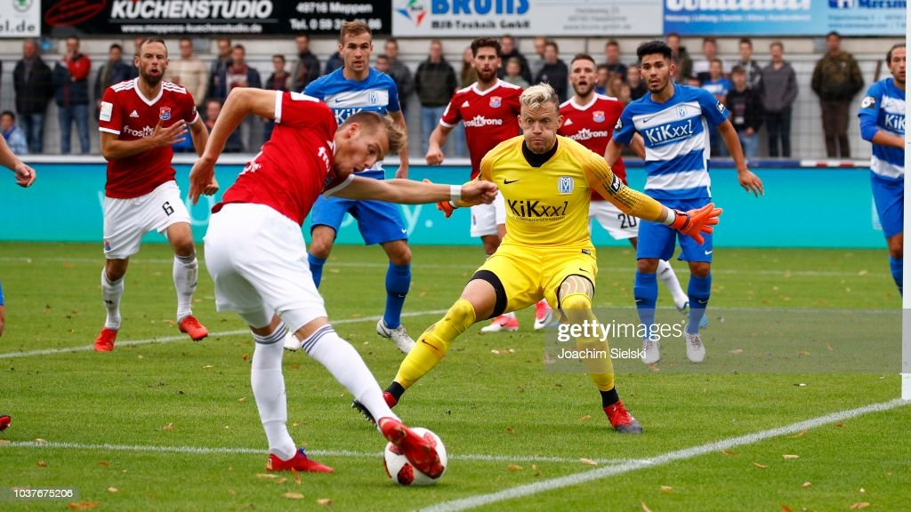 SV Meppen v SpVgg Unterhaching - 3. Liga : News Photo