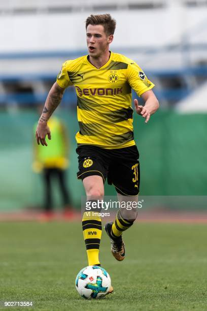 Erik Durm of Borussia Dortmund during the friendly match between Borussia Dortmund and Zulte Waregem at the Estadio Municipal Marbella on January 08...