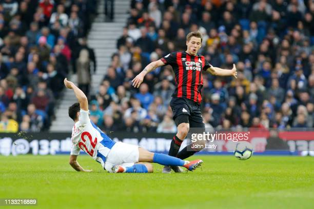 Erik Durm of Huddersfield Town during the Premier League match between Brighton Hove Albion and Huddersfield Town at American Express Community...