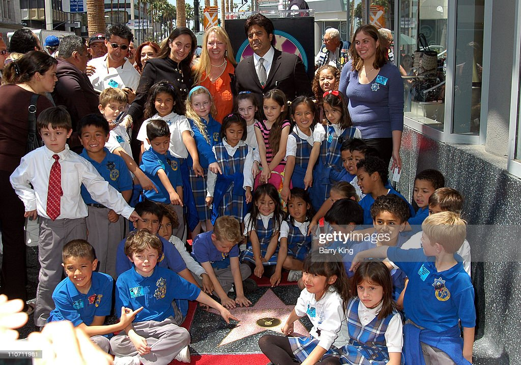 Erik Estrada and daughter and her class during Erik Estrada Honored with Star on the Hollywood Walk of Fame at 7021 Hollywood Blvd. in Hollywood, California, United States.