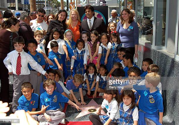 Erik Estrada and daughter and her class during Erik Estrada Honored with Star on the Hollywood Walk of Fame at 7021 Hollywood Blvd in Hollywood...