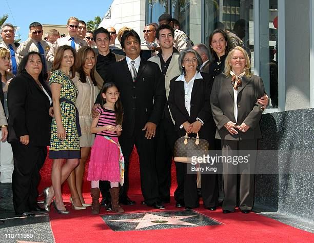 Erik Estrada and family during Erik Estrada Honored with Star on the Hollywood Walk of Fame at 7021 Hollywood Blvd in Hollywood California United...