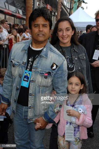 Erik Estrada and family during Meet The Robinsons Los Angeles Premiere Red Carpet at El Capitan Theatre in Hollywood California United States