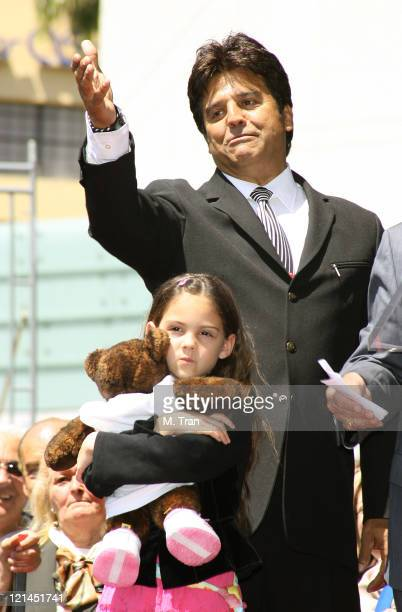 Erik Estrada and Francesca Estrada during Erik Estrada Honored with a Star on the Hollywood Walk of Fame at 7021 Hollywood Blvd in front of DSW Shoes...