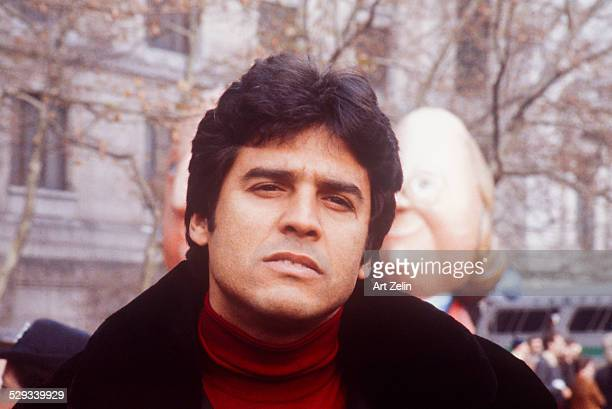 Erik Estrada closeup at the Macy's Thanksgiving Day Parade circa 1970 New York