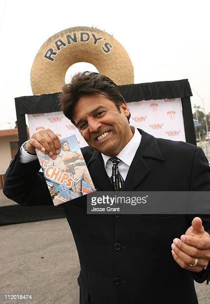 Erik Estrada during Erik Estrada Hosts a Donut Eating Contest for CHiPS Season One Release at Randy's Donut in Inglewood CA United States