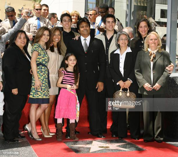 Erik Estrada family and guests during Erik Estrada Honored with a Star on the Hollywood Walk of Fame at 7021 Hollywood Blvd in front of DSW Shoes in...