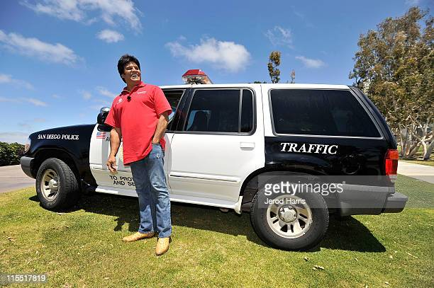 Erik Estrada teams up with Motorola and San Diego Law Enforcement to reward responsible drivers on June 7 2011 in San Diego California