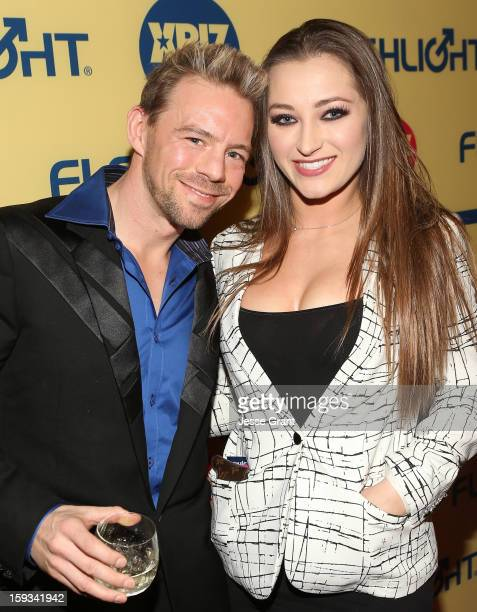 Erik Everhard and Dani Daniels attend the 2013 XBIZ Awards at the Hyatt Regency Century Plaza on January 11, 2013 in Los Angeles, California.