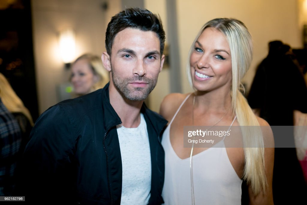 Erik Fellows and Tara Talkington attend The Bay's Pre-Emmy Red Carpet Celebration at 33 Taps Hollywood on April 26, 2018 in Los Angeles, California.