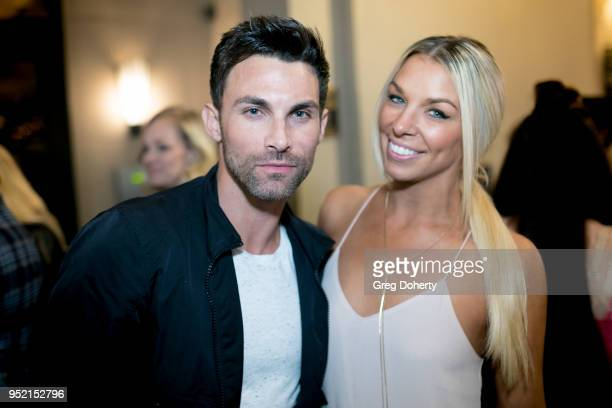 Erik Fellows and Tara Talkington attend The Bay's PreEmmy Red Carpet Celebration at 33 Taps Hollywood on April 26 2018 in Los Angeles California
