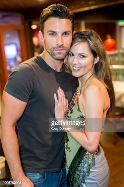 Erik Fellows and Terri Ivens attend The Bay Cast Host Fan Appreciation Event on July 27 2018 in Glendale California