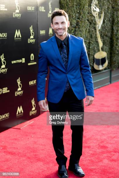 Erik Fellows attends the 2018 Daytime Creative Arts Emmy Awards at Pasadena Civic Center on April 27 2018 in Pasadena Texas