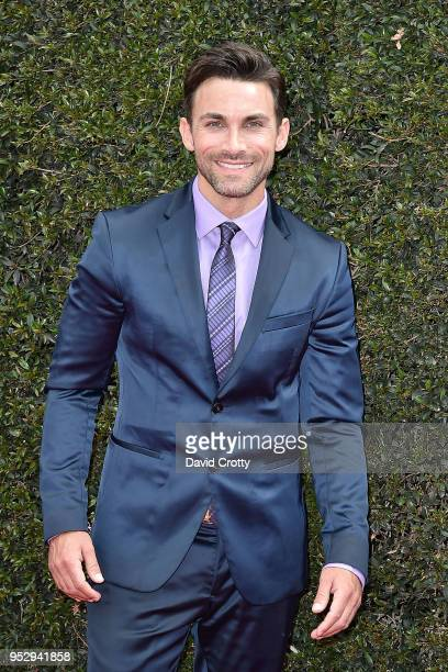 Erik Fellows attends the 2018 Daytime Emmy Awards Arrivals at Pasadena Civic Auditorium on April 29 2018 in Pasadena California