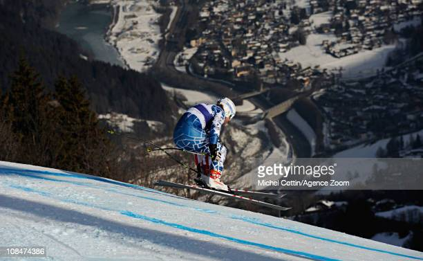 Erik Fisher of USA in action during the Audi FIS Alpine Ski World Cup Men'sDownhill Training on January 27 2011 in Chamonix France