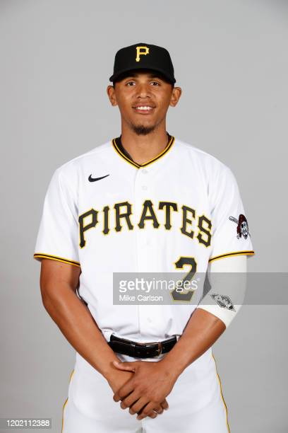Erik Gonzalez of the Pittsburgh Pirates poses during Photo Day on Wednesday, February 19, 2020 at LECOM Park in Bradenton, Florida.