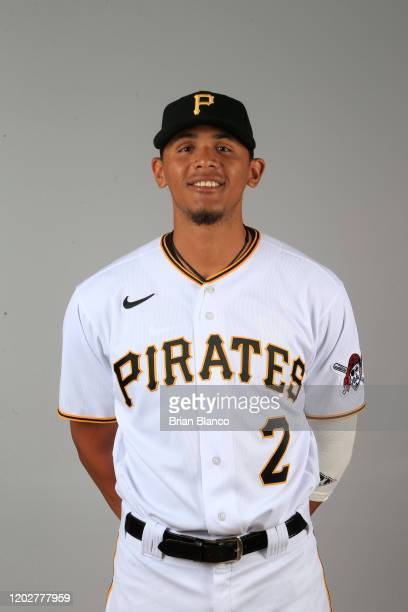 Erik Gonzalez of the Pittsburgh Pirates poses for a photo during the Pirates' photo day on February 19, 2020 at Pirate City in Bradenton, Florida.