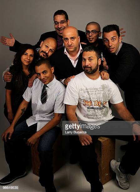Erik Griffin Maria Shehata Maz Jobrani Omid Djalili Sebastian Maniscalco Eman Morgan and Ahmed Ahmed from the film 'Just like us' attend the Tribeca...