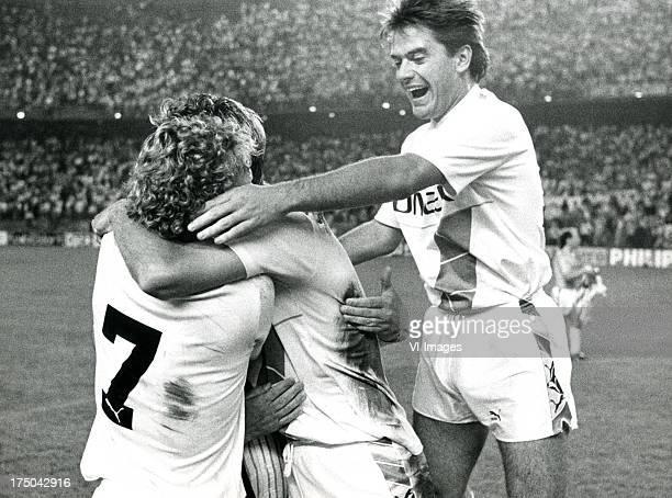 Erik Groeleken of FC Groningen during the Europa Cup 3 match between Atletico Madrid and FC Groningen on october 5 1988 in Madrid The Netherlands