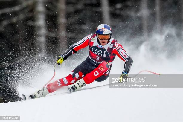 Erik Guay of Canada competes during the Audi FIS Alpine Ski World Cup Men's Super G on December 15 2017 in Val Gardena Italy