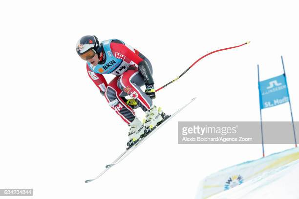 Erik Guay of Canada competes during the FIS Alpine Ski World Championships Men's SuperG on February 08 2017 in St Moritz Switzerland