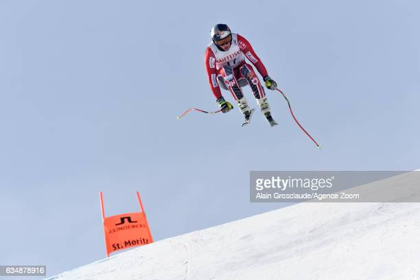 Erik Guay of Canada competes during the FIS Alpine Ski World Championships Men's Downhill on February 12 2017 in St Moritz Switzerland