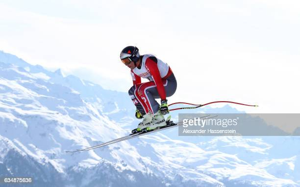 Erik Guay of Canada competes in the Men's Downhill during the FIS Alpine World Ski Championships on February 12 2017 in St Moritz Switzerland