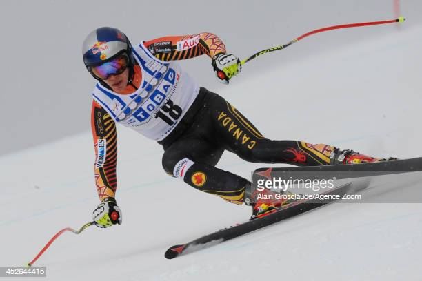 Erik Guay of Canada during the Audi FIS Alpine Ski World Cup Men's Downhill on November 30 2013 in Lake Louise Canada