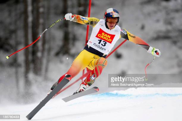 Erik Guay of Canada skis during the Audi FIS Alpine Ski World Cup Men's Downhill Training on December 14 2011 in Val Gardena Italy
