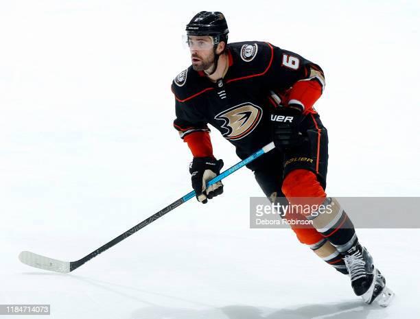 Erik Gudbranson of the Anaheim Ducks skates during the game against the Winnipeg Jets at Honda Center on October 29 2019 in Anaheim California