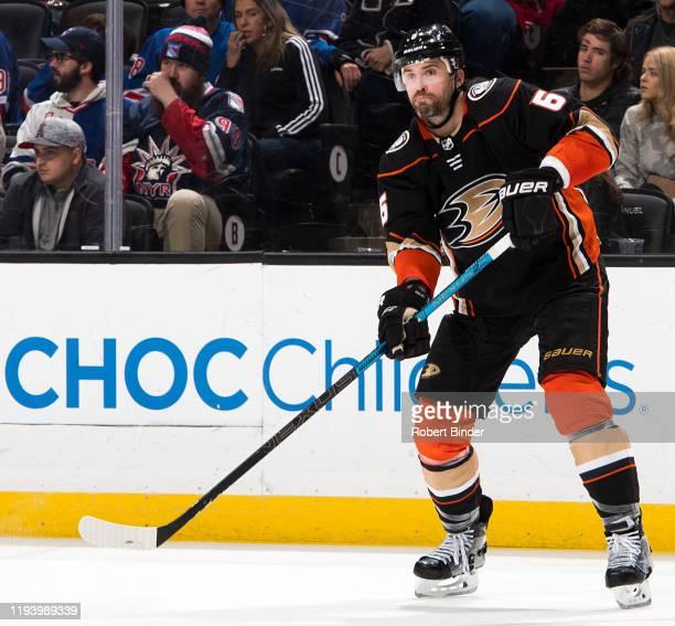 Erik Gudbranson of the Anaheim Ducks skates during the game against the New York Rangers at Honda Center on December 14 2019 in Anaheim California