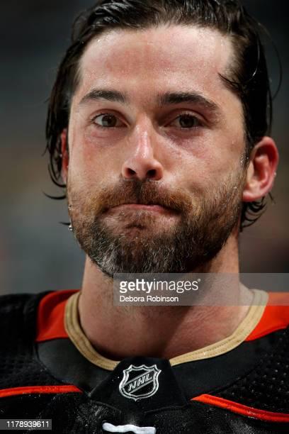 Erik Gudbranson of the Anaheim Ducks skates in warmups prior to the game against the Winnipeg Jets at Honda Center on October 29 2019 in Anaheim...