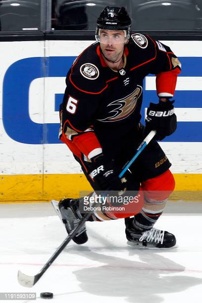 Erik Gudbranson of the Anaheim Ducks skates with the puck during the game against the Los Angeles Kings at Honda Center on December 2 2019 in Anaheim...