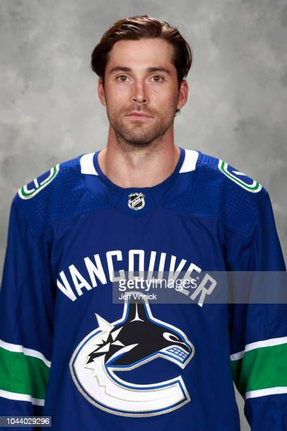 Erik Gudbranson of the Vancouver Canucks poses for his official headshot for the 20182019 season on September 13 2018 at Rogers Arena in Vancouver...