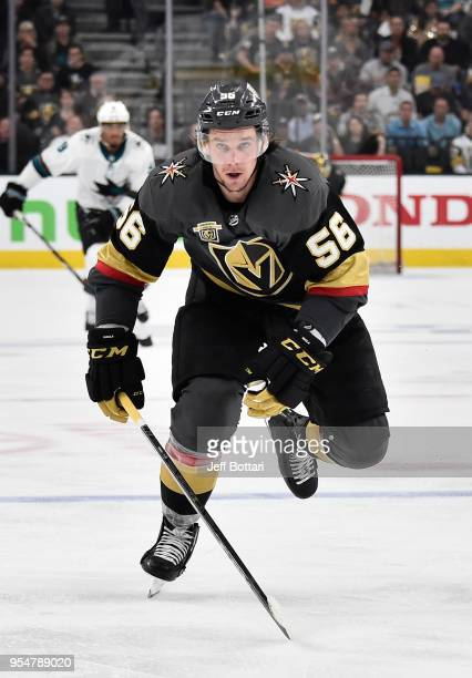 Erik Haula of the Vegas Golden Knights skates during the third period against the San Jose Sharks in Game Five of the Western Conference Second Round...