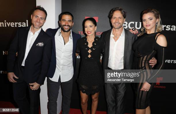 Erik Hayser Ignacio Serrichio Ana Claudia Talancon Guy Ecker and Isabella Castillo arrive at the Telemundo and NBC Universal Latin America NATPE Red...