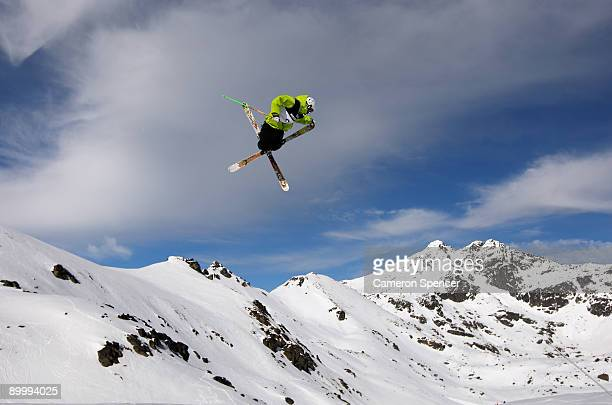 Erik Hughes of the United States of America competes in the slopestyle Freestyle Ski qualification during day one of the Winter Games NZ at The...